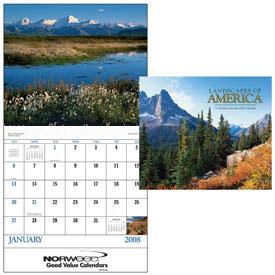 Imprinted Landscape Calendar