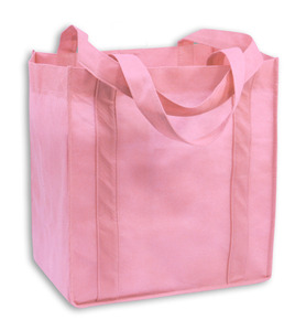Pink Grocery Totes are great for October and beyond
