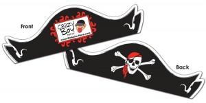 Imprinted pirate hat item # 11000101UVXT  www.thankem.com