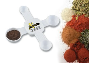 Cook's Connection 4 way measuring spoon is a great marketing item